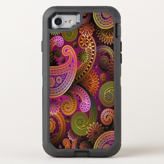 Paisley Purple OtterBox Defender iPhone 8/7 Case