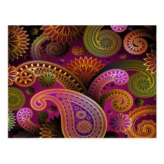 Paisley Purple Postcard