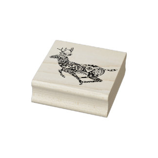 Paisley Reindeer - Christmas Rubber Stamp