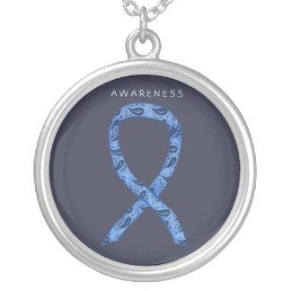 Paisley Ribbon Thyroid Disease Awareness Necklaces