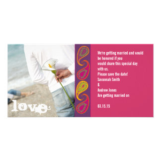 Paisley Save the Date Personalized Photo Card