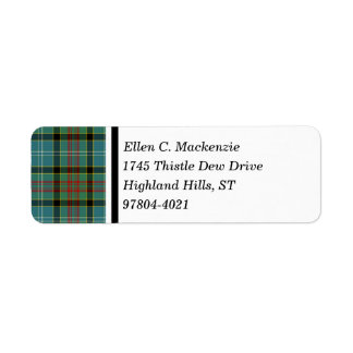 Paisley Scotland District Tartan Return Address Label