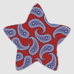 Paisley Star Stickers