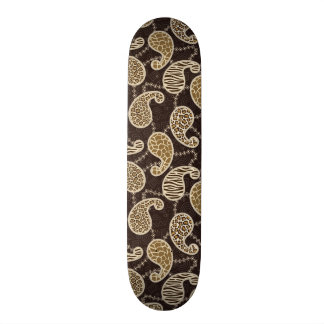 Paisley style background skate board