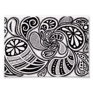 Paisley Swirl Print Photographic Print