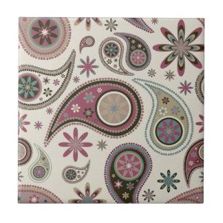 Paisley Tile/Trivet - Mauve - 1 Tile