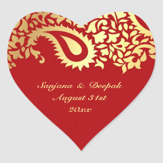 Paisleys Elegant Indian Wedding Sticker