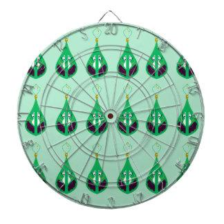 Paisleys emerald green. Original drawing Dartboard