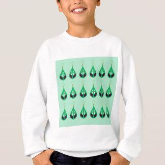 Paisleys emerald green. Original drawing Sweatshirt