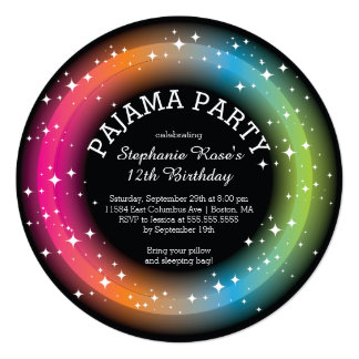 Pajama Sleepover Birthday Party Invitations
