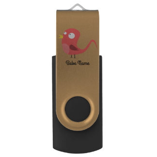 Pajarito-rooster-2400px USB Flash Drive