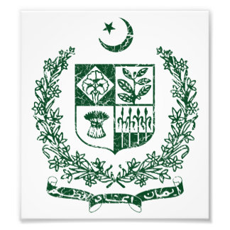 Pakistan Coat Of Arms Art Photo