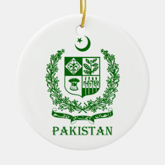 PAKISTAN - emblem/coat of arms/flag/symbol Ceramic Ornament