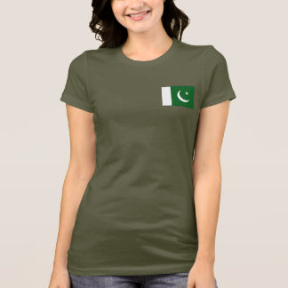Pakistan Flag and Map dk T-Shirt