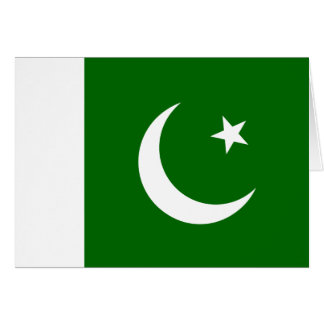 Pakistan Flag Note Card