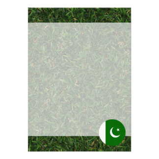 Pakistan Flag on Grass 13 Cm X 18 Cm Invitation Card