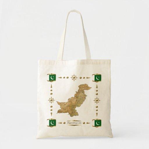 Pakistan Map + Flags Bag