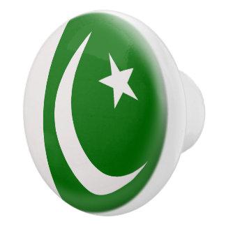 Pakistan Pakistani Flag Ceramic Knob