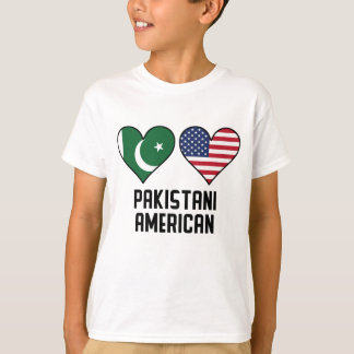 Pakistani American Heart Flags T-Shirt