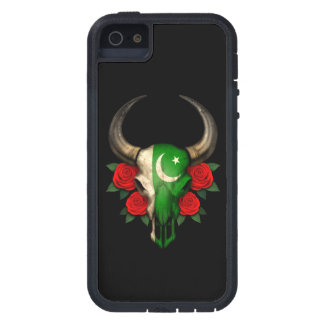 Pakistani Flag Bull Skull with Red Roses Cover For iPhone 5