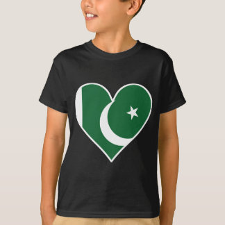 Pakistani Flag Heart T-Shirt