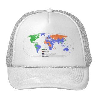 PAL NTSC SECAM TV World Map Cap