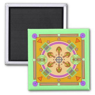 Palace & Circles Mandala Magnet