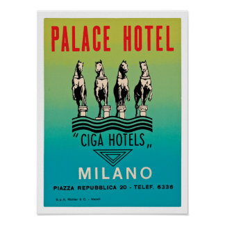 Palace Hotel Milano Posters