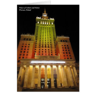 Palace of Culture and Science, Warsaw, Poland Card