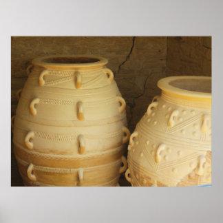 Palace of Knossos  pithoi -storage jars POSTER
