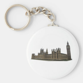 Palace of Westminster: Houses of Parliament: Basic Round Button Key Ring