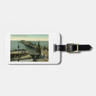 Palace Pier & Aquarium, Brighton England Vintage Luggage Tag