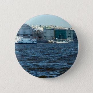 palaces on neva river St Petersburg Russia 6 Cm Round Badge