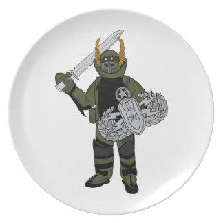 Paladin Bomb Suit Party Plates