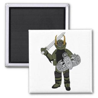 Paladin Bomb Suit Square Magnet