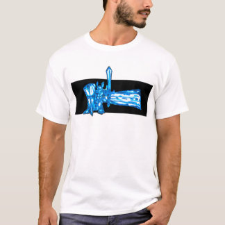 Paladin Knight with mystic sword and shield T-Shirt