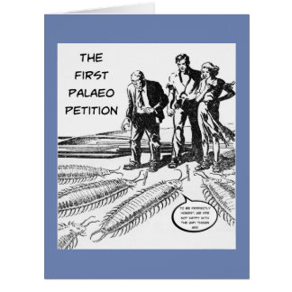 Palaeo Petition - Large Greeting Card