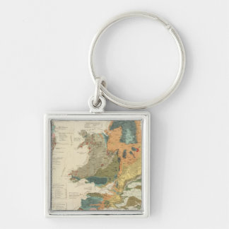 Palaeontological map British Islands Key Chains
