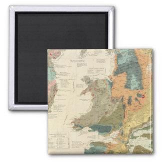 Palaeontological map British Islands Magnet
