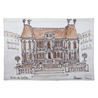 Palais de Justice Courthouse | Rennes, Brittany Placemat