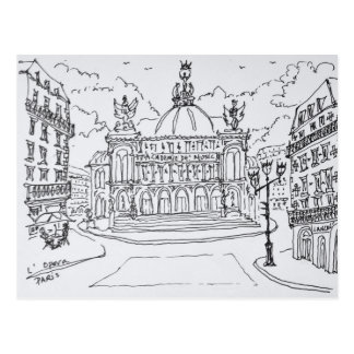 Palais Garnier Opera House | Paris, France Postcard