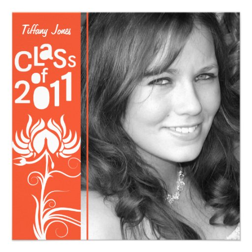 Palatial Lush 2011 Orange Class of 2011 Invite