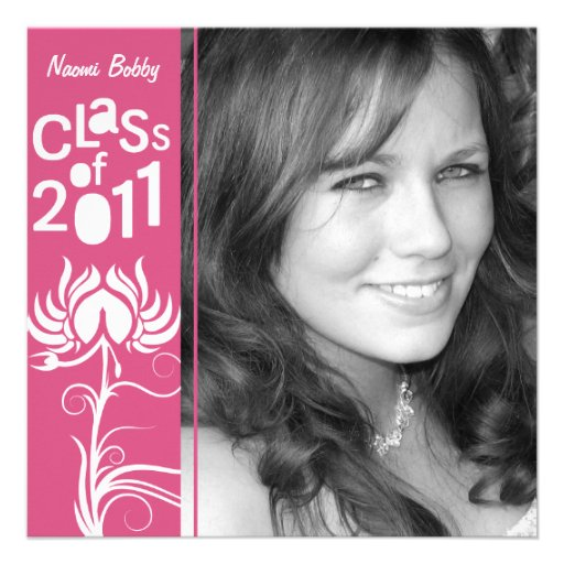 Palatial Lush 2011 Pink Class of 2011 Invite