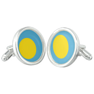 Palau Flag Cuff Links