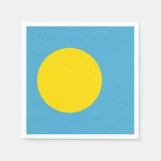 Palau Flag Disposable Serviette