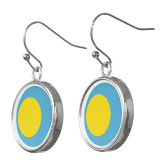Palau Flag Earrings