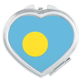 Palau Flag Mirror For Makeup