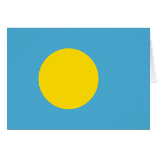 Palau Flag Note Card