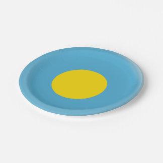 Palau Flag Paper Plate