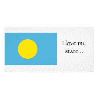 Palau Flag Photo Card Template